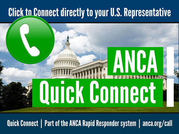 ANCA announces Congressional call-In day for H.Res.220 on Oct. 16