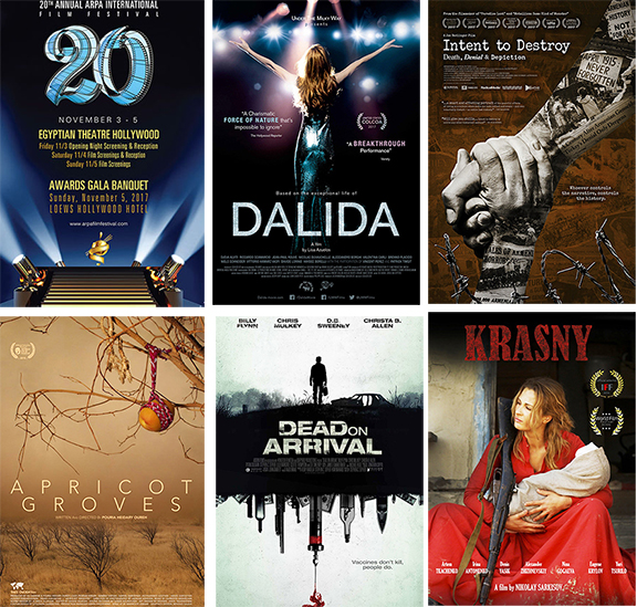 Some of the high-profile films being screened at the Arpa Film Festival