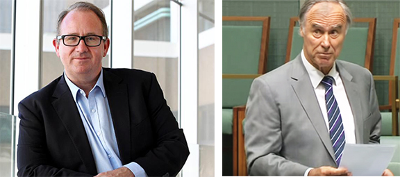 The Hon. David Feeney (ALP) on the left and Government MP, John Alexander (Liberal) on the right (Photo: ANC-AU)