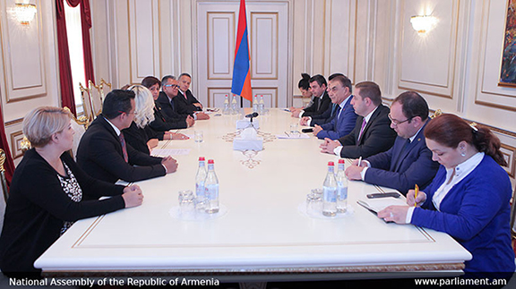 The Mexican delegation during their meeting with the Armenian Parliament Speaker (Photo: parliament.am)