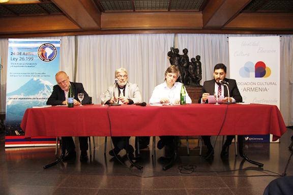 From left, Santiago Farrell, Khatchik DerGhougassian, Pablo Kendikian and Khodor Khalid