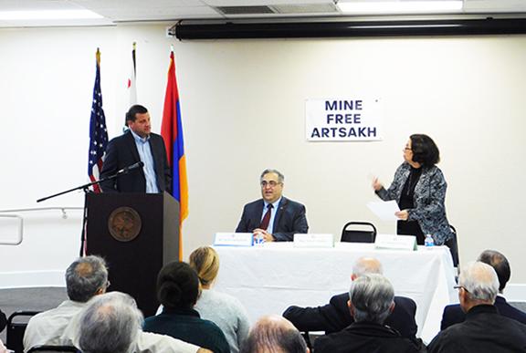 Rep. David Valadao with ANCA Executive Director Aram Hamparian, and former Fresno County    Supervisor Debbie Poochigian