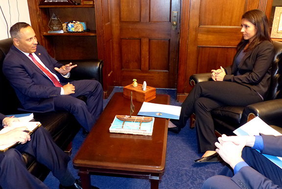 House Foreign Affairs Committee member Rep. Tulsi Gabbard and ANCA Chairman Raffi Hamparian discuss concrete steps the United States can take to strengthen official, civic, cultural, educational and other ties with the Republic of Artsakh following the Congresswoman's recent trip to the region.