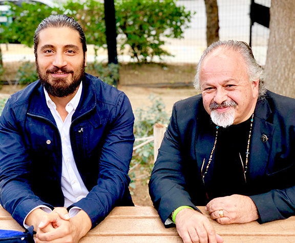 Armen Abelyan, Executive Director of Equality Armenia with Father Vazken Movsesian