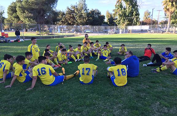 The Ferrahian Armens Varsity Soccer team