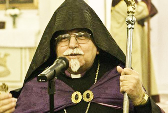 Istanbul Patriarchate Locum Tenens Archbishop Karekin Bekdjian. He is leaving Istanbul after his election was nullified by the state