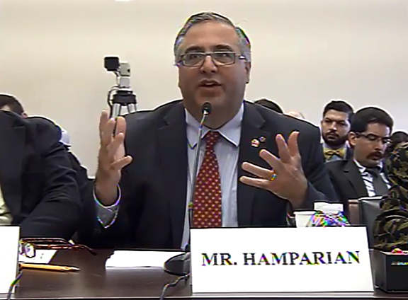 The author, during May 2017 testimony before the U.S. House Foreign Affairs Committee