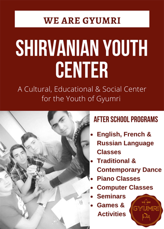 Some of the activities offered for local young people at Shirvanian Youth Center in Gyumri