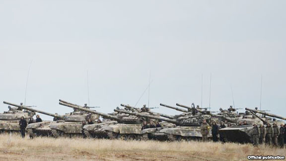These tanks took part in military exercises in Artsakh on Saturday