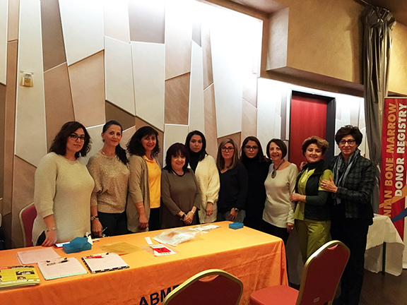 ABMDR volunteers and members of Constantin Malek Andrasians' family