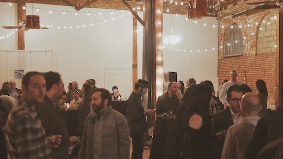 Guests enjoy the CD release party
