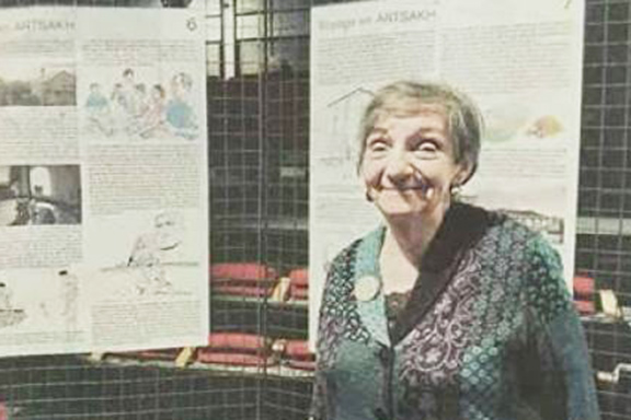 "Les Pennes-Mirabeau mayor, Monique Slissa at ""Days of Artsakh"""