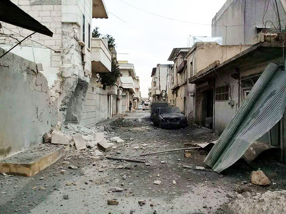 Afrin, Syria after the Turkish attack