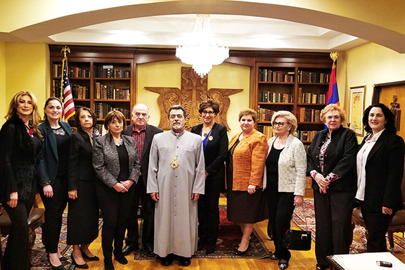ABMDR Board members with Archbishop Hovnan Derderian.