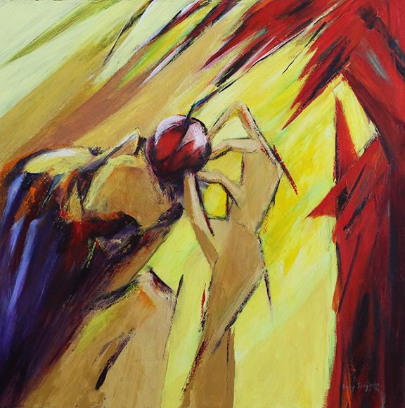 """The Fall, 1992, Acrylic on Canvas, 30""""x 30"""""""