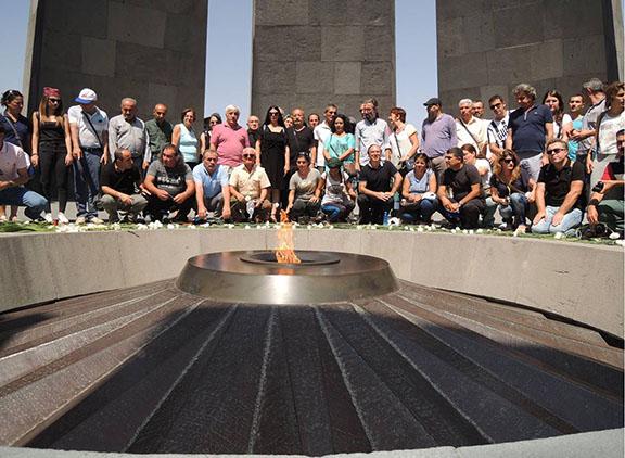 Hidden Armenians in Armenia at Dzidzernagapert Genocide Monument, 2015, Project Rebirth