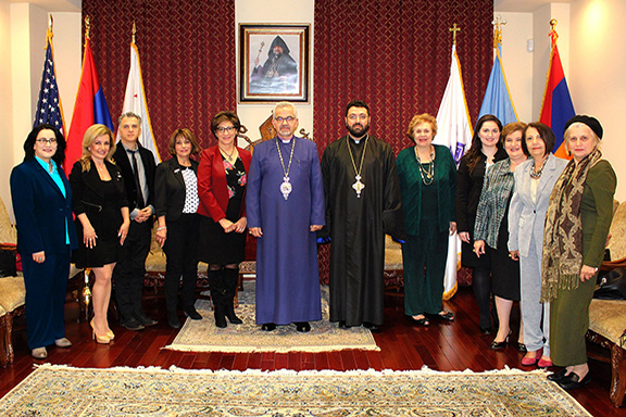The ABMDR delegation with Archbishop Moushegh Mardirossian.