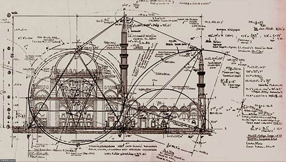 Mimar (architect) Sinan's rendering of a mosque
