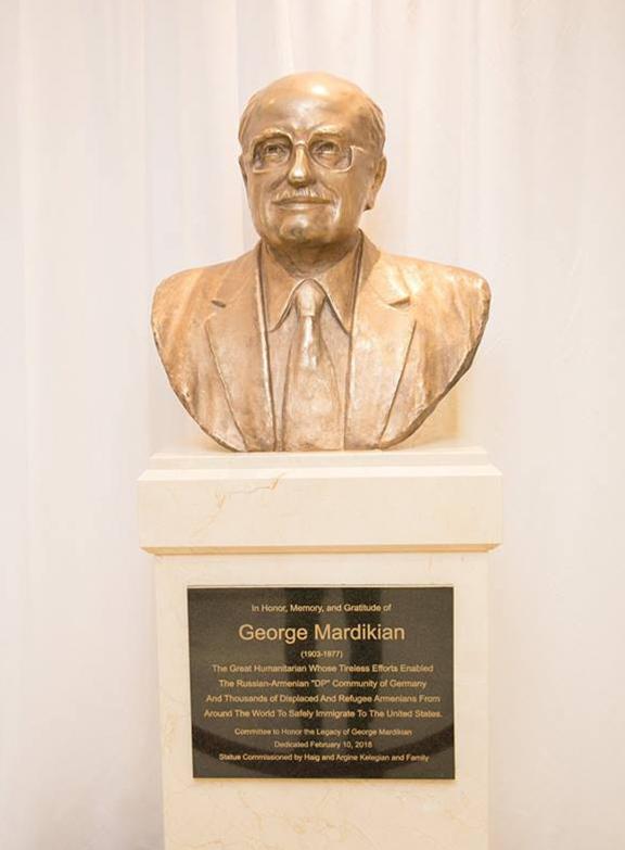 The bust of George Mardikian