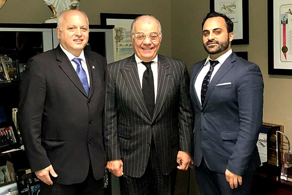 From l to r: ARF Central Committee Chairman Daron Der Khachatourian, Harry Nadjarian and ARF CC member Vache Thomassian