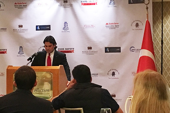 Turkey's new Consul General to Los Angeles Can Oguz during an event organized by the West LA Chamber of Commerce