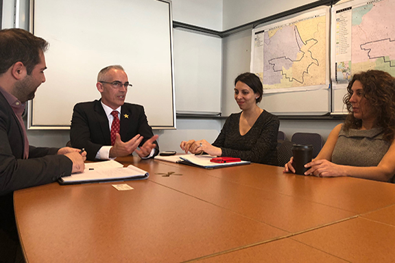 LA City Councilmember Mitch O'Farrell (second from left) with his deputy legislative director, Star Parsamyan (secon from right) his field deouty, George Hakopiants (left) and ANCA Hollywood Co-Chair Lara Yeretsian (right)