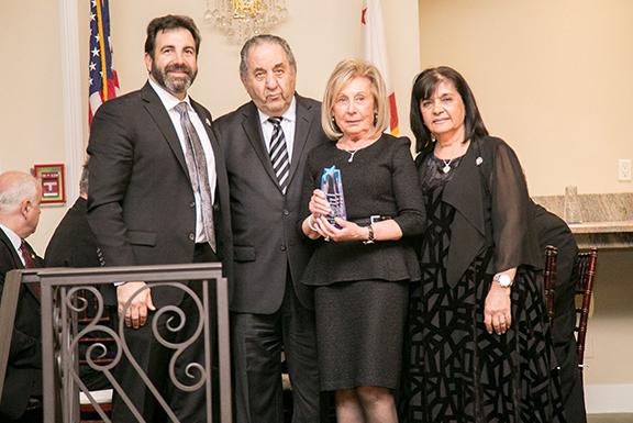 Receiving the evening's Mesrobian Spirit Award were Haig and Argine Kelegian.