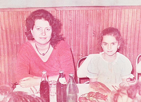 The author with her mother in Baku