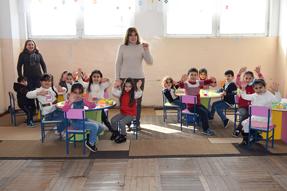 Metzamor Pre-School #2 received school furniture in February, 2017