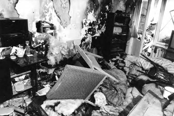 A house belonging to an Armenian family pillaged by Azeris in Sumgait in 1988