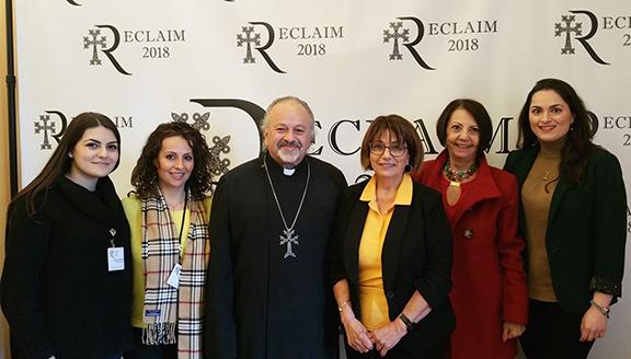 The Reclaim Conference organizing team, including, from left, Marianna Muradyan, Sevana Keshishian, and Rev. Fr. Vazken Movsesian, with the ABMDR team, comprising Dr. Vergine Madelian, Fimi Mekhitarian, and Dr. Christina Ashjian