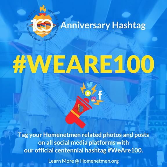 Homenetmen centennial hashtag  campaign