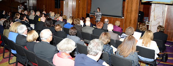 """Prior to the """"Faith and Love"""" concert a lecture was presented"""