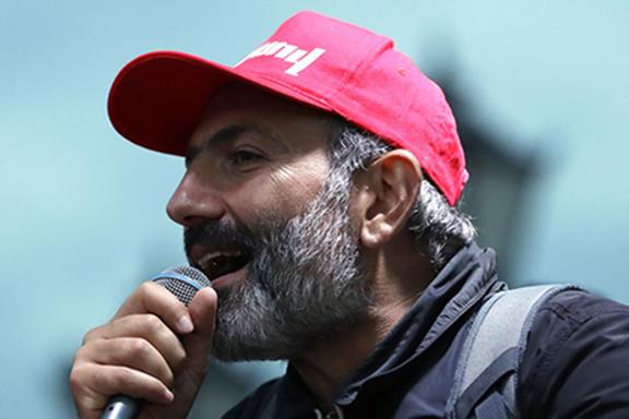 Armenian protest leader Nikol Pashinyan