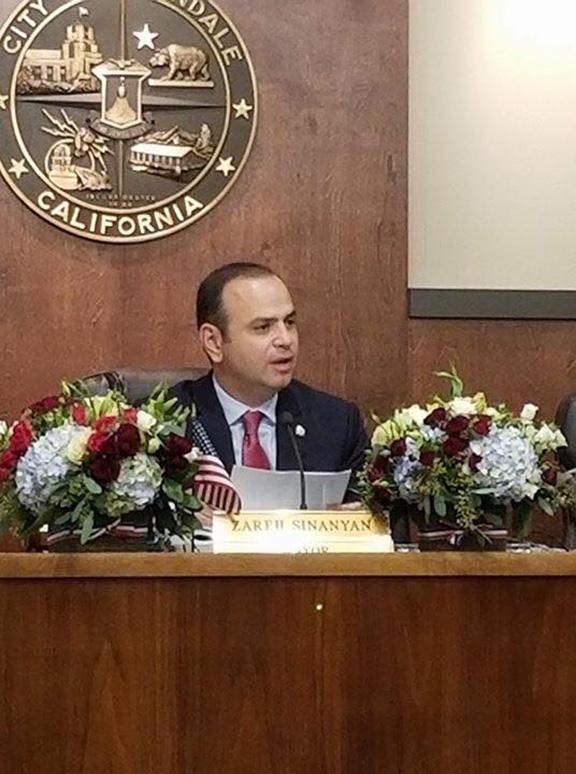 Zareh Sinanyan will serve a second term as Mayor of Glendale