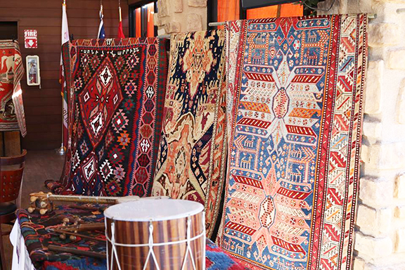 """Made in Shushi carpets were displayed during last year's """"Discover Shushi"""" event"""