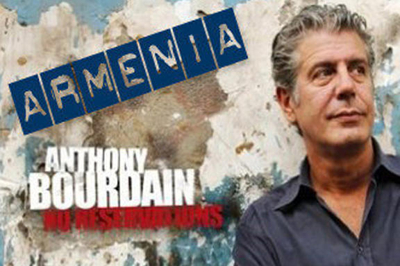 """An advertisement for Anthony Bourdain's """"Parts Unknown"""" Armenia episode"""