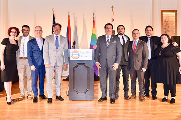 The honorees and public officials at Equality Armenia's Leadership Forum