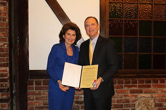Medea Kolognomos with Rep. Adam Schiff