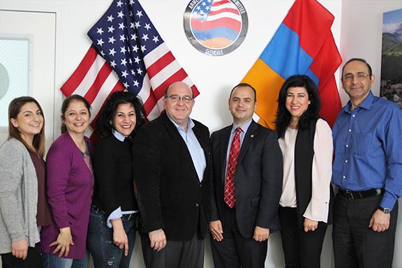 Mayor Zareh Sinanyan with ANCA-WR and ANCA Glendale members