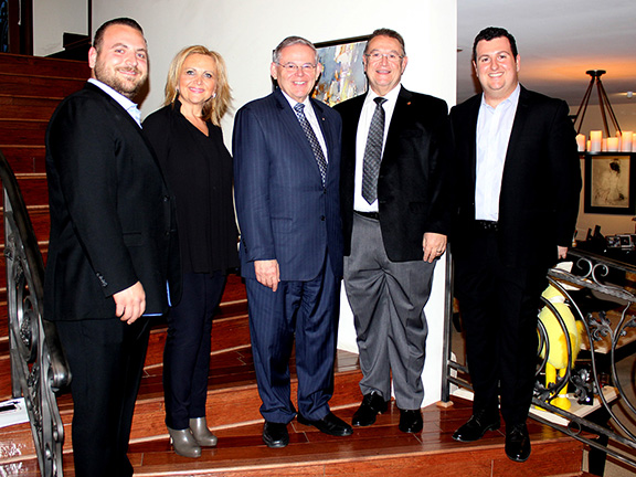 Peklar and Vera Pilavjian graciously hosted the gathering with U.S. Senator Robert Menendez and ANCA supporters. The Pilavjian family is pictured here with Senator Menendez.