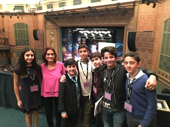 Chamlian students who won awards and honorable mentions at the L.A. County Science Fair