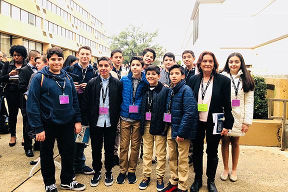 The Chamlian team at the L.A. County Science Fair
