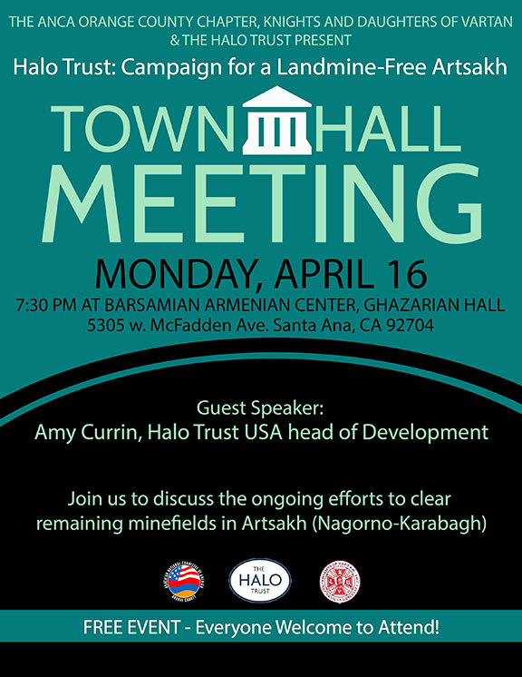 Orange County town hall meeting to focus of HALO Trust efforts