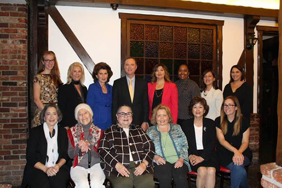 Rep, Adam Schiff (center) with the 13 Women of the Year of the 28th Congressional District