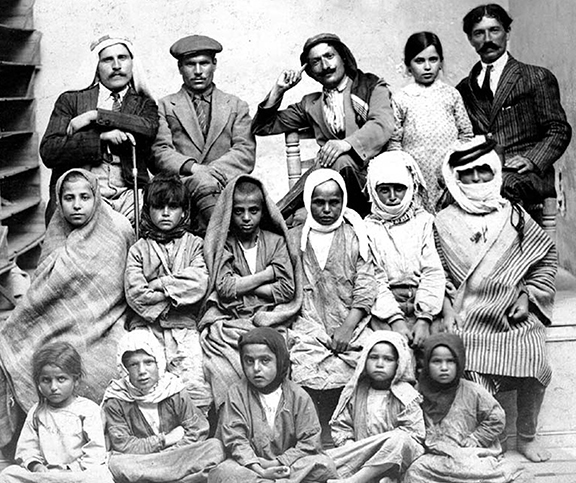 Levon Yotnakhparian with surviving orphans of the Armenian Genocide