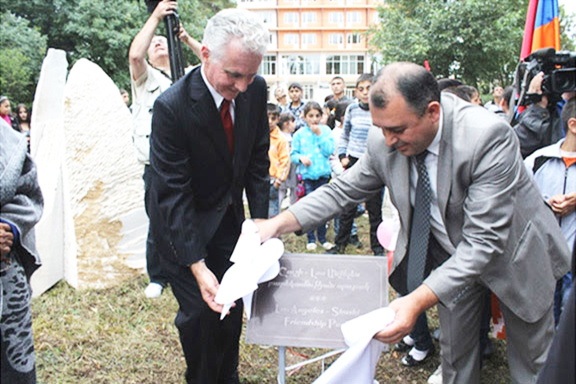 L.A. City Councilmember Paul Krekprian at the inauguration of the LA-Shushi friendship park in Artsakh