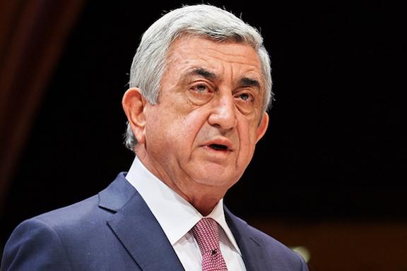 Serzh Sarkisian resigns as prime minister