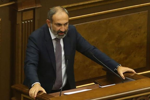 Before being elected Prime Minister, Nikol Pashinyan addresses parliament on Tuesday