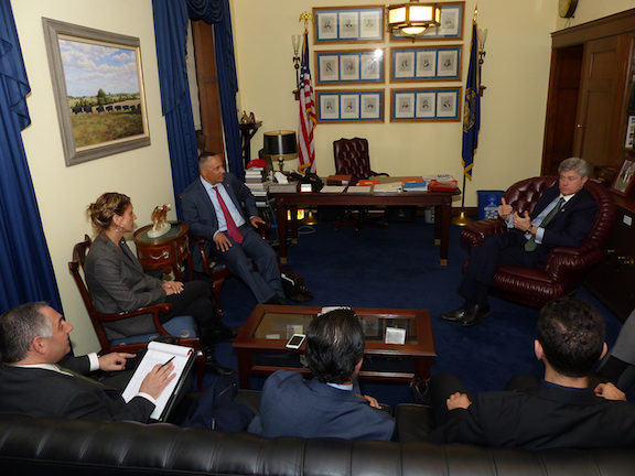 ANCA leaders discussing MCC grant opportunities with House Appropriations Committee member Jeff Fortenberry (R-NE)